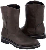 Mens Brown Construction Safety Durable Tough Work Shoes Leather Boots Si... - €41,48 EUR