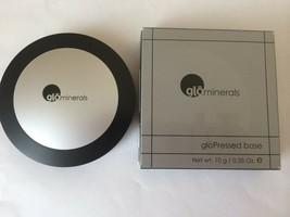 Glominerals Pressed Base Powder Foundation Compact Cocoa Dark Grey Box - $9.95
