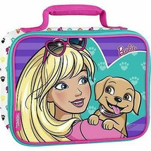 BARBIE MATTEL & PUPPY Girls Thermos PVC & Lead-Free Lunch Tote Box Bag NWT - $16.21