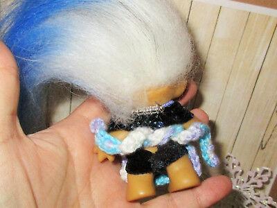 "WITCH 3"" + ACCESSORIES Troll Doll 1960s Halloween vintage broom hat bat owl lot"