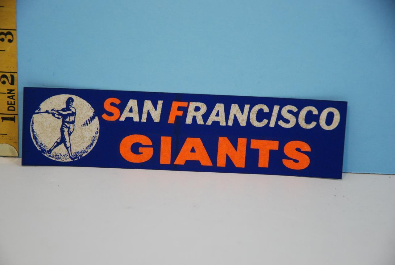 Primary image for Vintage 1960's San Francisco Giants Major League Baseball Bumper Sticker