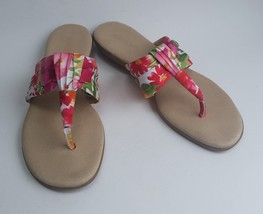 Aerosoles Shoes Flip Flops Floral Multi-Color Thong Womens Size 10.5 - $27.68