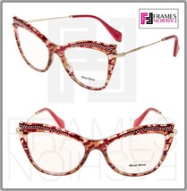 MIU MIU MU06PV Eyeglasses Optical Frame Raspberry Pink RX Glasses 51mm 0... - $197.01