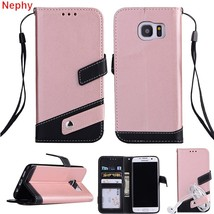 Nephy Luxury Flip Leather Cell Phone Case for Samsung galaxy S8 S9 Plus S7 S6 ed - $9.98