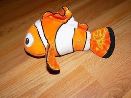 "Disney Pixar Finding Nemo Clown Fish Bean Bag Plush 9.5"" Just Play EUC - $15.00"