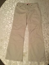 Girls-Size 10 Regular Faded Glory pants-khaki bootcut jeans-Great for sc... - $9.90