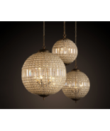 19TH C. Casbah Crystal Chandelier E14 Light Ceiling Lamp Suspension Ligh... - $553.70+