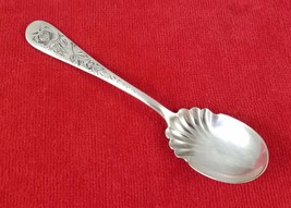 "Holmes & Edwards Silverplate Sugar Spoon Bright Cut Sterling Inlaid 5 7/8"" - $24.40"