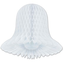 "6 honeycomb bells paper decoration white 5"" long - $3.95"