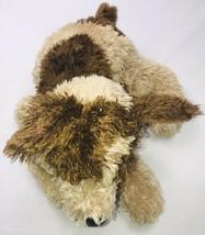 "Commonwealth Floppy Plush Dog 18"" Stuffed Tan Brown Eye Spots 2005 Soft Toy Pup - $49.48"