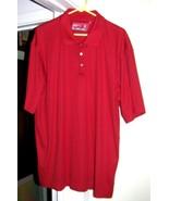 DARK RED Golf Shirt Sz XXXL Cutter & Buck - $10.00