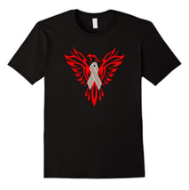 Brain Tumor Awareness T Shirt Gray Ribbon Phoenix - $15.95