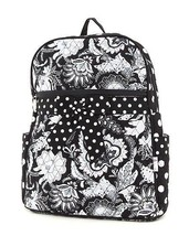 Belvah quilted large book bag backpack QF2746(BKWH) BS500 - $25.00