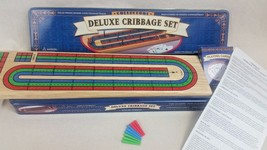 Cardinal Deluxe Wooden Cribbage Board Set in Tin Box - $12.16