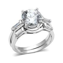 2 Piece Round Cut Cubic Zirconia Engagement & Wedding Ring Set  - SIZE 5 - 9 image 1