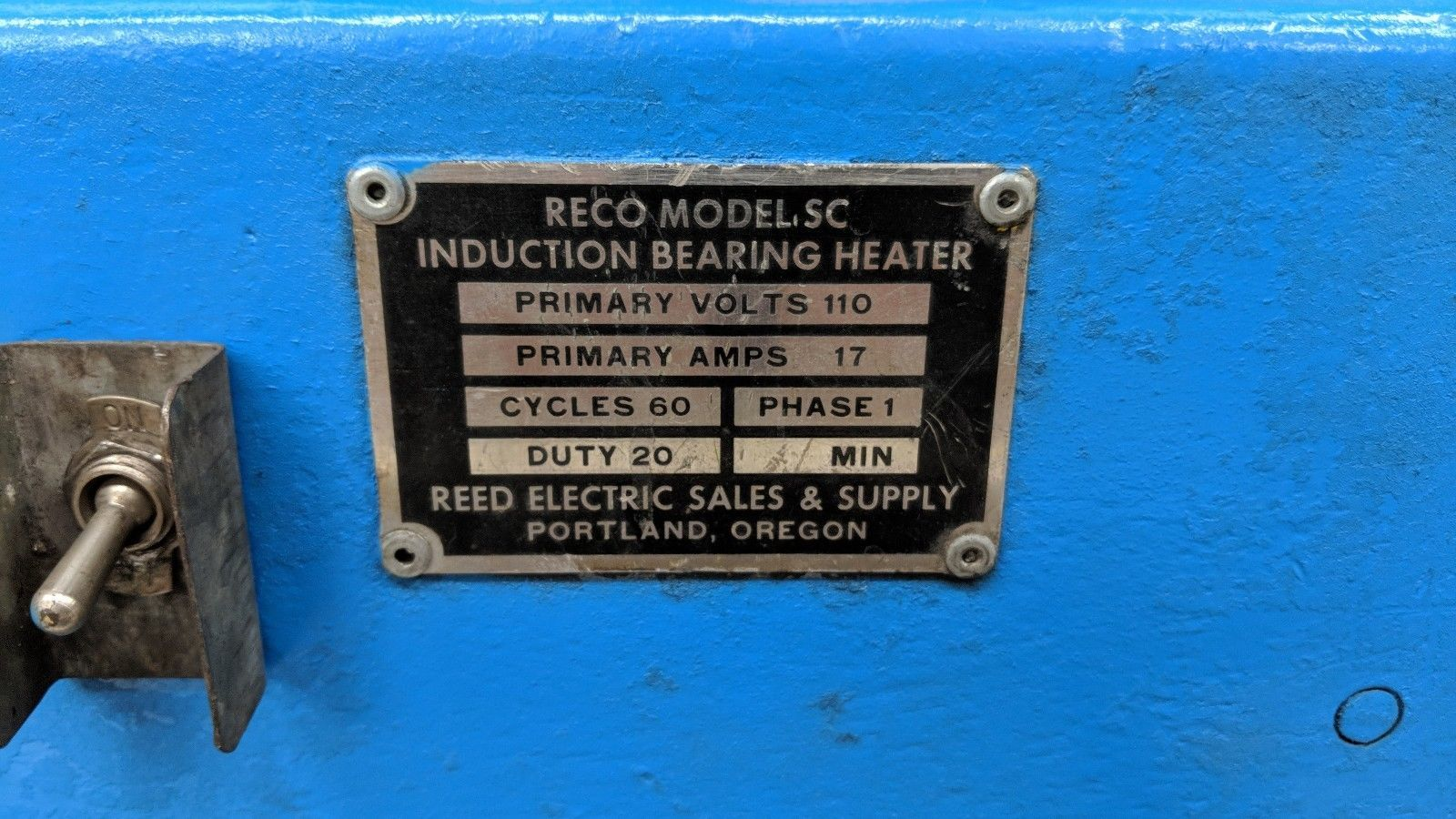 Reco Model SC Induction Bearing Heater expander 115vac #2