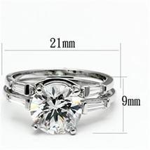 2 Piece Round Cut Cubic Zirconia Engagement & Wedding Ring Set  - SIZE 5 - 9 image 3