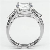 2 Piece Round Cut Cubic Zirconia Engagement & Wedding Ring Set  - SIZE 5 - 9 image 4