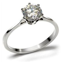 Simple Easy to Match Stainless Steel CZ Engagement Ring - SIZE 5 to 10 image 1