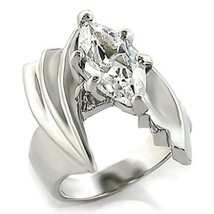 Silver Tone Marquise CZ Engagement Ring- SIZE 7, 8 image 1