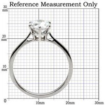 Simple Easy to Match Stainless Steel CZ Engagement Ring - SIZE 5 to 10 image 2