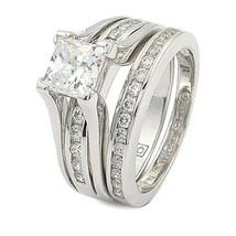 CZ WEDDING RINGS - Princess Cut 1 Carat CZ Engagement & Wedding Rings SZ 5 - 10 image 1
