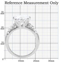 Stainless Steel 6.40 CTS Pave Band CZ Engagement Ring- SIZE 6 TO 10 image 2
