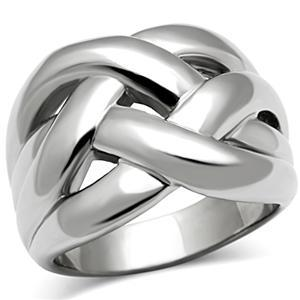 Stainless Steel Lattice Design Right Hand Ring - SIZE 5 - 10