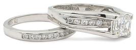 CZ WEDDING RINGS - Princess Cut 1 Carat CZ Engagement & Wedding Rings SZ 5 - 10 image 3