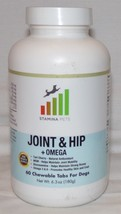 Stamina Pets Joint Hip Omega Dietary Supplements 60 Chewable Tabs Dogs 0... - $13.40
