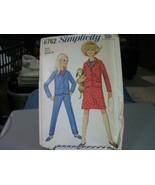 Simplicity 6762 Girl's Jacket, Skirt & Pants Pattern - Size 4 Chest 23 - $6.92