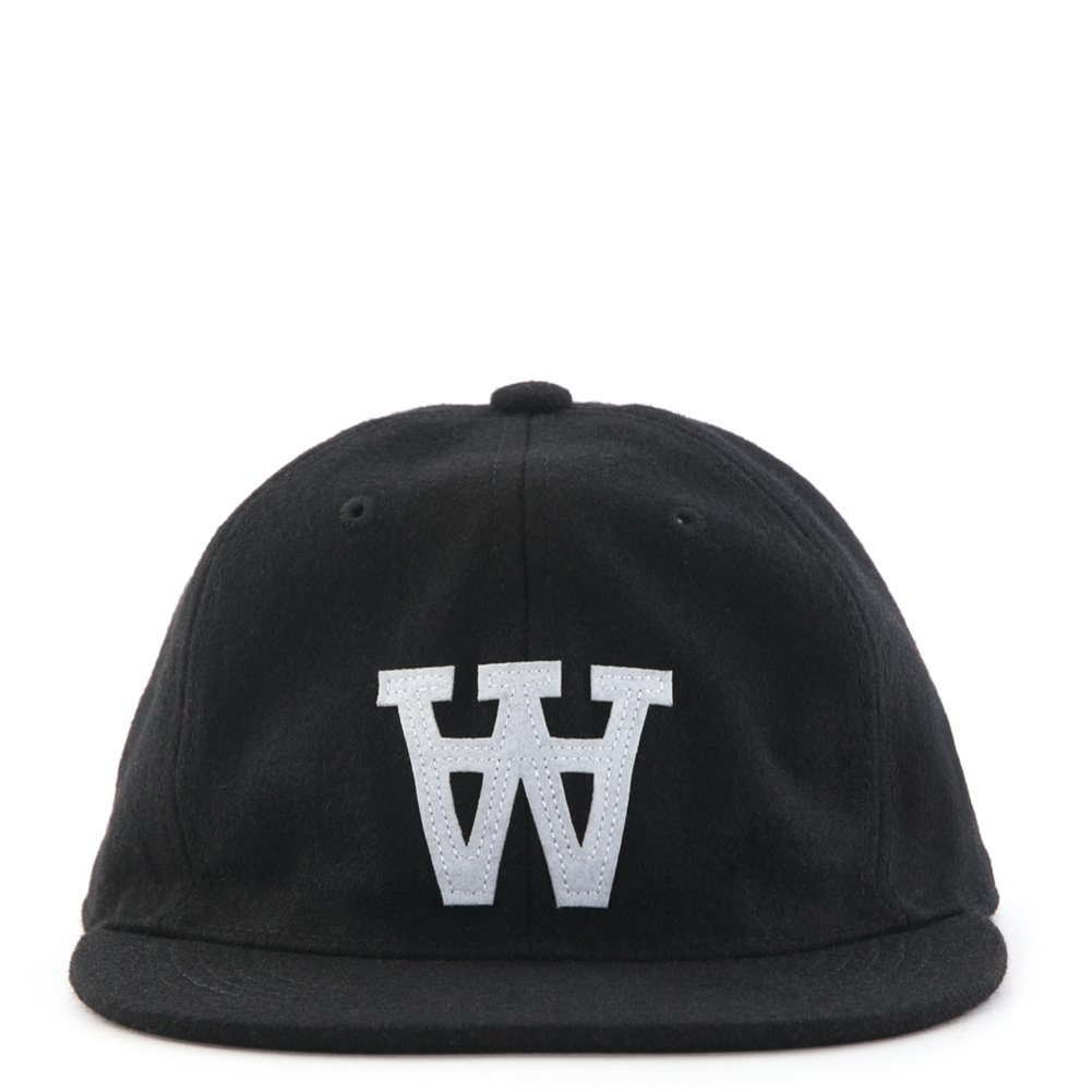 Wood Wood Logo Wool Cap 11530805-7081 (Black AA)