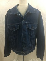 Vintage Levi's Made in Canada Denim Jean Trucker Jacket 70506-0216 Mens 46 - $64.34