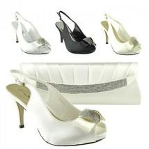 Women Party Shoes Low Heel Black Bridesmaid Party Ladies Wedding Sandals... - $19.49