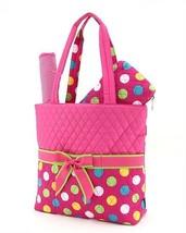 Belvah quilted polka dots 3 piece baby diaper bag LPDQ1103L(FSMT) BS795 - $22.99