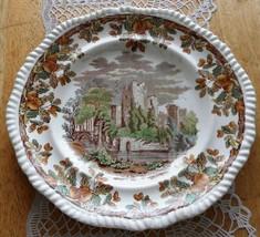 Antique Porcelain Plate English W T Copeland & Son Acorn Castle Dish Pla... - $111.63