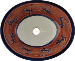 "Mexican Oval Bathroom Sink ""Lizard"" - $172.00"