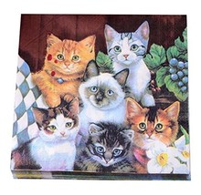 Printed Cats Paper Napkins Tea Party Shower Luncheon Serviettes - $18.42