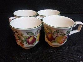 Vintage  Fruit Mugs Tea Coffee Cups Made In England Set Of 4  6 oz - $29.99