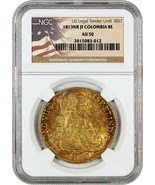 Colombia: 1813-NR JF 8 Escudos NGC AU50 (KM#66.1) - Colombia - .7614 oz ... - $2,104.90