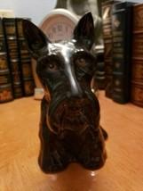 Black Scottish Terrier, Scotty Dog Figure Vintage Figurine - $34.99
