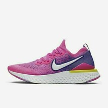 Nike React Flyknit 2 CK0821-600 Pink Laser Fuchsia Women's Running Shoes - $59.49