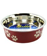 """Loving Pets Stainless Steel & Merlot Dish with Rubber Base Small - 5.5"""" ... - $10.36"""