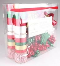 Wondershop Gold Red White Green 264 Ft Ribbon 33 Bows Gift Wrapping Kit Set NEW image 2