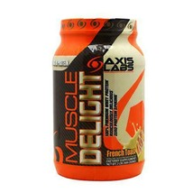 Axis Labs Muscle Delight 100% Premium Whey Protein, French Toast, 2 Pound - $36.25