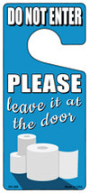 Leave It At The Door Novelty Metal Door Hanger - $12.95