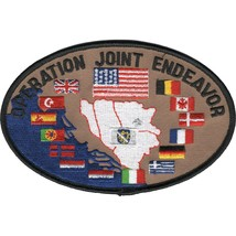 """5"""" NATO OPERATION JOINT ENDEAVOR EMBROIDERED PATCH - $17.14"""