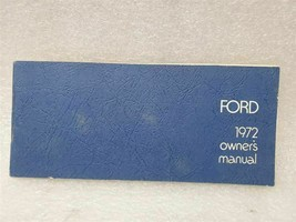 1972 Ford Passenger Car Owners Manual 15809 - $16.82