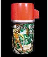 Vintage 1956 Robin Hood Aladdin Metal Thermos n... - $39.95
