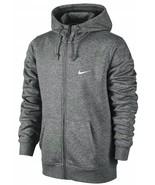 Nike Men's Club Swoosh Full-Zip Hoodie Jacket Dark Gray S 823531-071 - $59.99